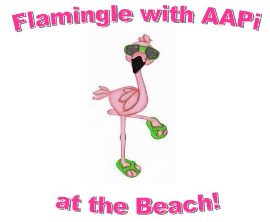 Flamingle at Beach